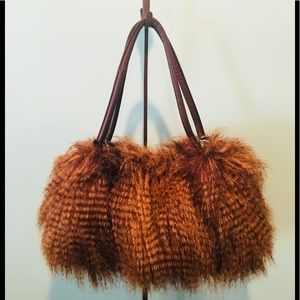 e03c1050a5 Adrienne Landau Faux Fur Handbag
